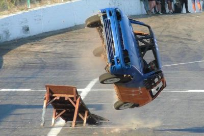 Ramp Rollover Competition At Speedway Warneton