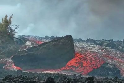 Floating Boulders Demonstrate The Incredible Force Of Lava
