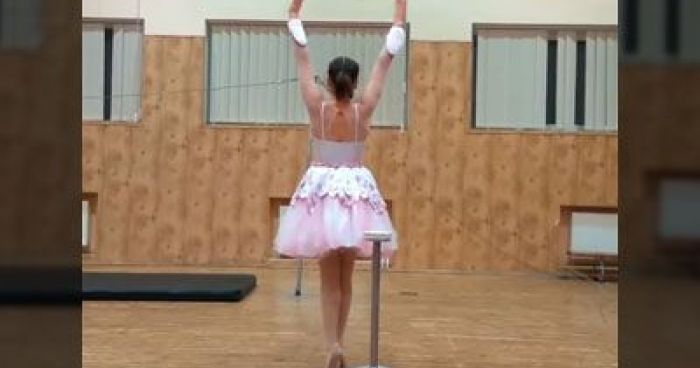 Ballerina Shows Us Her Talent, Then Dancing Routine Takes